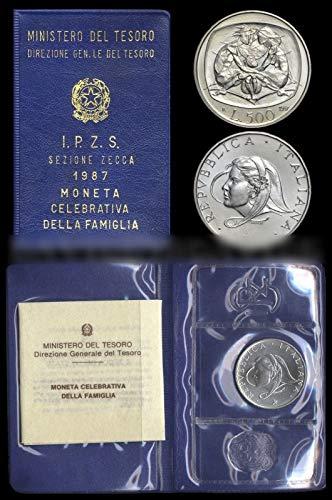 87dc9ba8f9 Italia 500 lire Argento'Anno della Famiglia' Fior di Conio FDC (11 gr