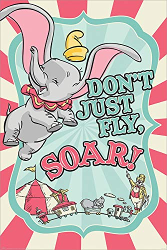 Standard-möbel-poster (Dumbo Circus Poster Maxi, Pappe, Mehrfarbig, Standard)