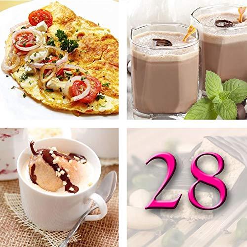Régimen Adelgazante Hiperproteico Paquete 28 días 66 productos 1 coctelera y 1 guía de regalo – pérdida de peso optimizada en 4 semanas