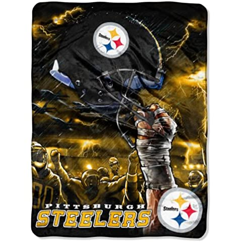 NFL Pittsburgh Steelers 60-Inch-by-80-Inch Plush Rachel Blanket, Sky Helmet Design by Northwest
