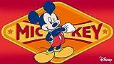 Kinder Teppich Kinderteppich mit Micky Mouse / Teppich / Kinder Teppich / Kinderspielteppich / Kinderteppich / Wandteppich / weinrot / Modell Kinderteppich Disney Micky Maus / Dieser wunderschöne und Kinderteppich mit Micky ist in der Größe 50 x 80 cm
