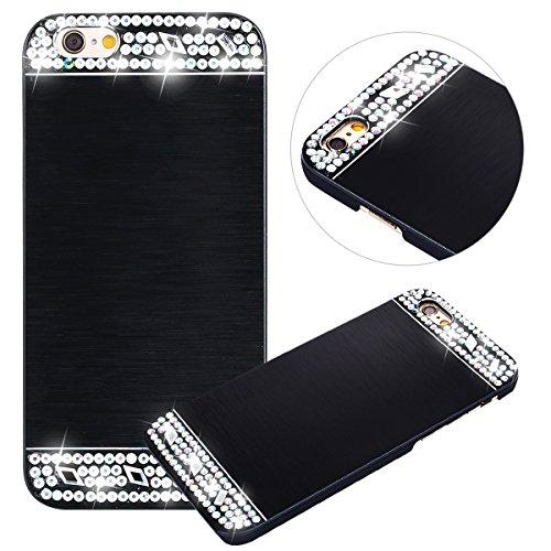 custodia iphone 6 plus nera con brillantini
