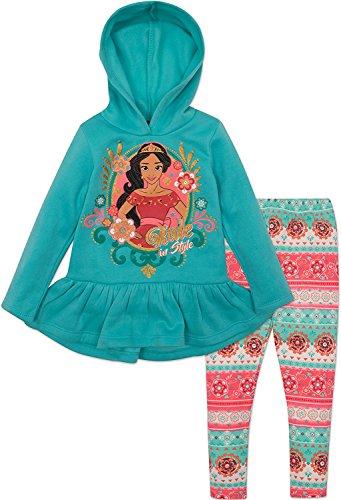 Elena of Avalor Kleinkind M?dchen Fleece Hoodie und Leggings Set, Blau (3T) Disney Fleece-sweatshirt