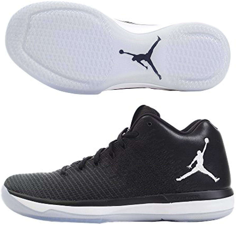Hombre Air Jordania XXXI Low Zapatilla de Baloncesto, Negro/Blanco