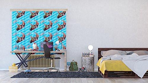 Ag design tende - avengers marvel - tende per camera bambini - stampa foto 3d - 180 x 160 cm - 2 parti - fcsxl 4342