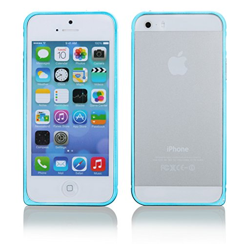 Ego ® de protection bumper ultra fine en aluminium pour iPhone en aluminium pour metal coque de protection téléphone portable, Aluminium, rose bonbon, für iPhone 4 4s bleu