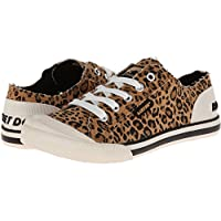 Rocket Dog Jazzin Leopard Print Women Laced Canvas Trainers Shoes Boots
