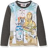 Lego Star Wars Jungen T-Shirt 163106, Gris (White/Marengo Melange/Greymelange), 10 Jahre (Hersteller Größe: 10 Jahre)