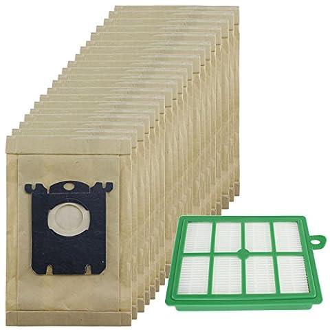 spares2go robuste la poussière Sacs & EFH12Kit filtre pour aspirateur ELECTROLUX Oxygen (Lot de 20sacs + 1filtre)