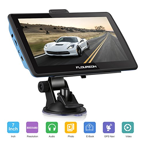 FLOUREON Pantalla táctil LCD capacitiva de 7 Pulgadas de navegación GPS de...