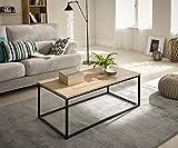 Hogar24-Mesa de centro salón comedor madera y metal estilo industrial vintage medidas 110 x 60 x 45...