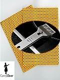 Microfaser Duo Küchentuch 3er Set, Reinigungstuch Set mit Kochfeldschaber von Conny Clever