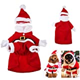 Demarkt Hund Weihnachtsmann Kostüm mit Hut Hund Weihnachtskleidung Weihnachten Kostüm XL