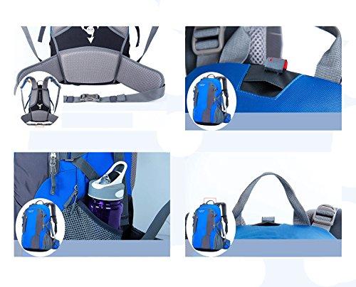 YAAGLE Outdoor Bergsteigen Taschen Rucksack Damen und Herren Unisex Reisetasche Trekkingrucksack 40 L-grün grün
