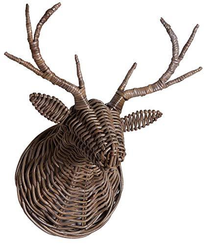 AUBRY GASPARD Trophée tête de cerf en peolet Gris