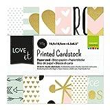 Vaessen Creative Love It Kollektion, Bastelpapier Foto-Karton 15 x 15 cm, 24 Blatt Doppelseitiges Papier