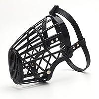 Muselière pour Chien Réglable en Plastique Anti Morsure/Aboiement Tour de Bouche Corde PU Taille 6
