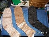 Chaussettes avec talon renforcé en fil simple 100% d'alpaga bio. Une belle unique.