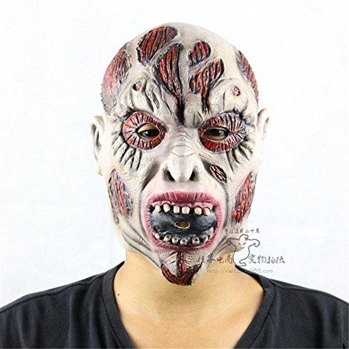 SQCOOL High-Grade Latex Zombie Mumie Maske Fool Halloween Ball Performance Requisiten