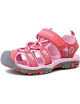 Aimee Sommer Strand Geschlossene Sandalen Klettverschluss Outdoor Wanderschuhe Ultraleicht Breathable Schuhe Flach...