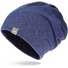 UNIQ Long Beanie Strickmütze | Damen und Herren | Slouch Mütze Oversize Unisex Atmungsaktiv meliert Baumwolle | für das ganze Jahr | weicher Stoff