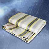 CAOYU Tarpaulin regendichte Sonnenschutz Auto Plane Doppelseitige Wasserdichte Fracht Staub Tuch Hohe Temperatur Anti-Aging, Streifen (Farbe : A, größe : 6 x 8m)