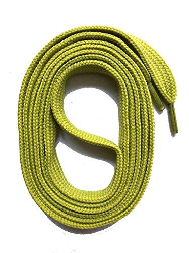 SNORS flache Schnürsenkel OLIVE 145cm, 11-12mm breit, reißfest, Polyester, Made in Germany für Chucks Sneaker Stiefel Boots - ÖkoTex