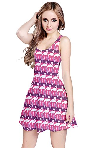 CowCow - Robe - Femme Colorful Woodland Flamant rose