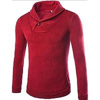 HY-Sweater Corea Versión Técnicos de Otoño y Invierno Fashion Jersey Sudadera Jacquard Establece, Color Rojo, Tamaño XXXL