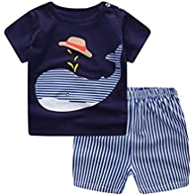 Fossen Ropa Niño Conjunto Verano 0-3 Años Niños Camiseta de Manga Corta  Impresión de 7f7584bf45f