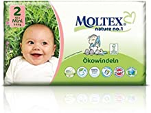 42 unidades MOLTEX Nature No1 pañales ecológicos bio oso pañales bebés MINI Gr 2 (3-6 kg)
