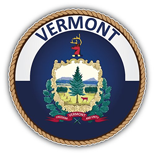 Vermont USA State Seal Auto-Dekor-Vinylaufkleber 12 X 12 cm -