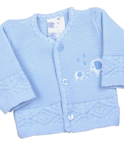 BabyPrem Premature Baby Cardigan Jacket Boy Girl Buttons Knitted Elephant 3-8lb