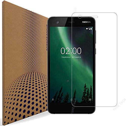 Nokia 2 Pellicola Protettiva Vetro Temperato, VLP Pellicola in Vetro Temperato per Nokia 2 (Bordo Arrotondati 2.5D - Chiarezza 98% - Anti Impronta)