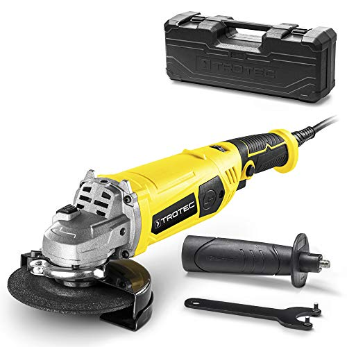 TROTEC Amoladora angular PAGS 11-125 - Para cortar, esmerilar y cepillar metal, así como para cortar...