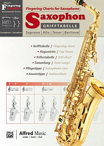 Grifftabelle Fur Saxophon [Fingering Charts for Saxophone]: German / English Language Edition, Chart