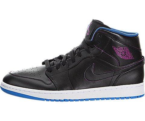 competitive price 50743 9654f Nike Air Jordan 1 Mid, Zapatillas de Deporte para Hombre, Negro Rosa