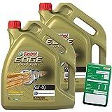Castrol Edge Titanium FSTTM 5W-40 Lot de 2 bidons d'huile moteur avec étiquette de vidange d'huile incluse Spécifications/homologations ACEA C3; API SN/CF; VW 502 00/ 505 00 / 505 01; BMW Lon 5l (total 10 l)