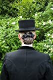 Haarnetz mit Steinen&Brosche - Erhältlich in Schwarz- Schwarzes Haarnetz mit schlaufe und Strass/Glitzerssteinen dekoriert. inkl. Einer Brosche