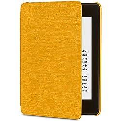 Étui en tissu protégeant de l'eau pour Kindle Paperwhite (10ème génération - modèle 2018), Jaune