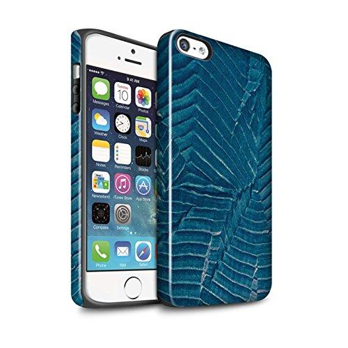 STUFF4 Glanz Harten Stoßfest Hülle / Case für Apple iPhone 7 / Quatrefoil/Klee Muster / Teal Mode Kollektion Blatt/Stoff