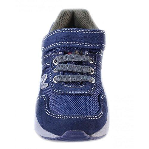 Naturino - Naturino Scarpe Bambino Blu Navy Militare Pelle Velluto Strappi Velcro Sport 419 Bleu