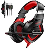 Gaming Headset, TedGem Gaming Headset for PS4, PC Gaming Headset, Stereo for Xbox One Controller, with Microphone/LED Light/Bass Surround, for Xbox One PC Laptop Tablet Mac Smart Phone