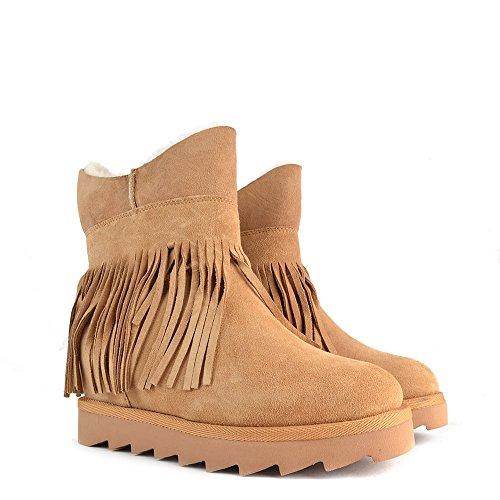 Ash Chaussures Yago Boots en Daim Camel Femme Natural/Light Camel