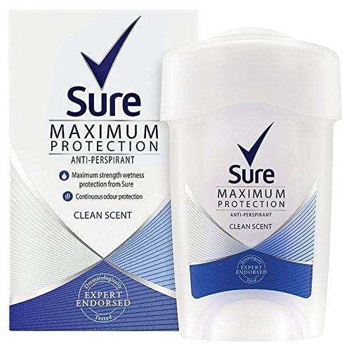 La Massima Protezione Sicuro Donne Profumo Di Pulito Crema Anti-Traspirante Deodorante 45Ml (Confezione da 6)