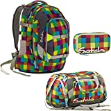 satch by Ergobag Beach Leach 3-teiliges Set Rucksack, Sporttasche & Schlamperbox