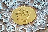 Hundepfote 4cm Pfote Präge-Ausstecher Ausstechform 3D Keksausstecher