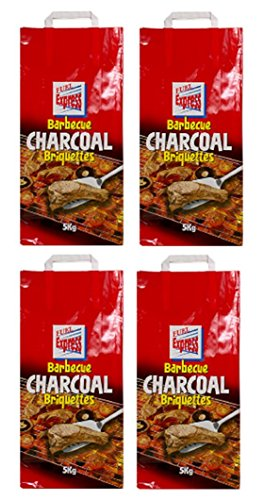 4 x 5KG Bags Of Fuel Express BBQ Barbecue Charcoal Briquettes