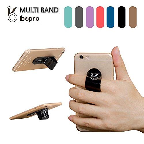 Ibepro® - Soporte para dedo para teléfono, agarre seguro, dedo antideslizante, para smartphone pequeño Tablet iPhone 5/6s/6s Plus Samsung Galaxy S7/S7Edge/Note 5 width=