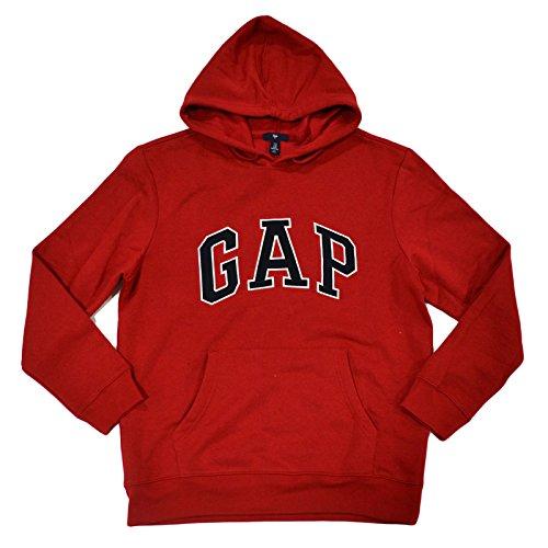 Gap Herren Fleece Arch Logo Pullover Hoodie (Large, Rot) -